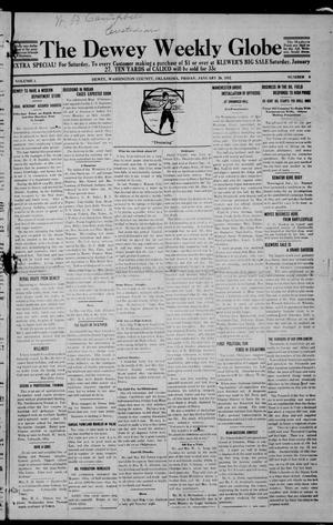 Primary view of object titled 'The Dewey Weekly Globe (Dewey, Okla.), Vol. 1, No. 8, Ed. 1 Friday, January 26, 1912'.
