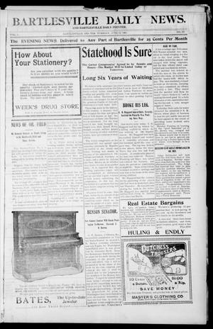 Primary view of object titled 'Bartlesville Daily News. And Bartlesville Daily Pointer. (Bartlesville, Indian Terr.), Vol. 1, No. 269, Ed. 1 Tuesday, June 12, 1906'.