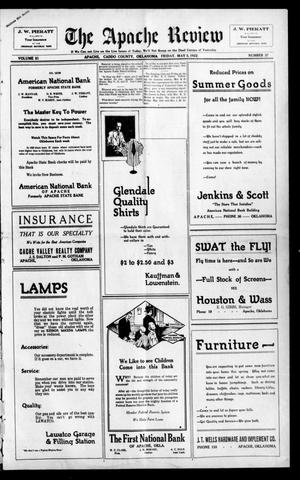 Primary view of The Apache Review (Apache, Okla.), Vol. 21, No. 37, Ed. 1 Friday, May 5, 1922