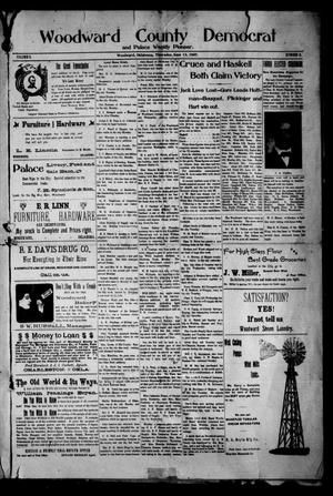 Primary view of object titled 'Woodward County Democrat and Palace Weekly Pioneer. (Woodward, Okla.), Vol. 3, No. 8, Ed. 1 Thursday, June 13, 1907'.