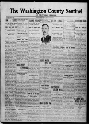 Primary view of The Washington County Sentinel And The Weekly Enterprise (Bartlesville, Okla.), Vol. 8, No. 28, Ed. 1 Friday, August 23, 1912