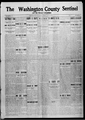 Primary view of object titled 'The Washington County Sentinel And The Weekly Enterprise (Bartlesville, Okla.), Vol. 10, No. 22, Ed. 1 Friday, July 10, 1914'.