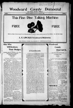 Primary view of object titled 'Woodward County Democrat and Palace Weekly Pioneer. (Woodward, Okla.), Vol. 3, No. 18, Ed. 1 Thursday, August 22, 1907'.