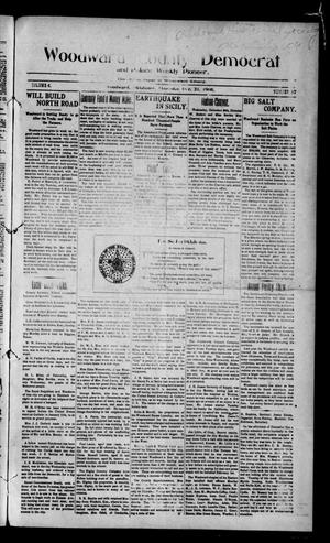 Primary view of object titled 'Woodward County Democrat and Palace Weekly Pioneer. (Woodward, Okla.), Vol. 4, No. 37, Ed. 1 Thursday, December 31, 1908'.