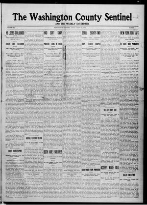 Primary view of object titled 'The Washington County Sentinel And The Weekly Enterprise (Bartlesville, Okla.), Vol. 8, No. 7, Ed. 1 Friday, March 29, 1912'.