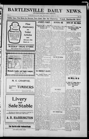 Primary view of object titled 'Bartlesville Daily News. And Bartlesville Daily Pointer. (Bartlesville, Indian Terr.), Vol. 1, No. 193, Ed. 1 Wednesday, March 21, 1906'.