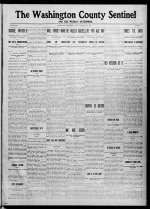 Primary view of object titled 'The Washington County Sentinel And The Weekly Enterprise (Bartlesville, Okla.), Vol. 8, No. 1, Ed. 1 Friday, February 16, 1912'.