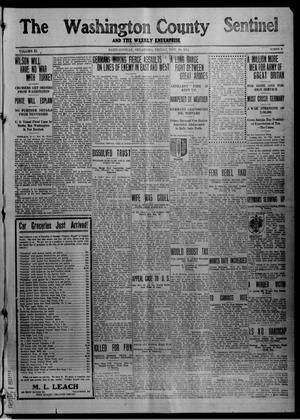 Primary view of object titled 'The Washington County Sentinel And The Weekly Enterprise (Bartlesville, Okla.), Vol. 11, No. 40, Ed. 1 Friday, November 20, 1914'.