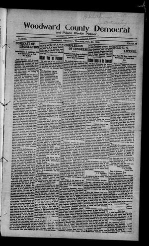 Primary view of object titled 'Woodward County Democrat and Palace Weekly Pioneer. (Woodward, Okla.), Vol. 4, No. 36, Ed. 1 Thursday, December 24, 1908'.