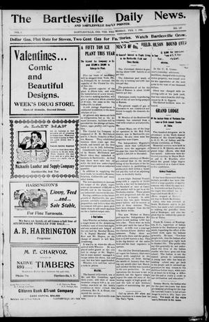Primary view of object titled 'The Bartlesville Daily News. And Bartlesville Daily Pointer. (Bartlesville, Indian Terr.), Vol. 1, No. 157, Ed. 1 Wednesday, February 7, 1906'.