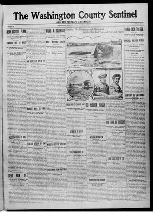 Primary view of object titled 'The Washington County Sentinel And The Weekly Enterprise (Bartlesville, Okla.), Vol. 9, No. 31, Ed. 1 Friday, September 12, 1913'.