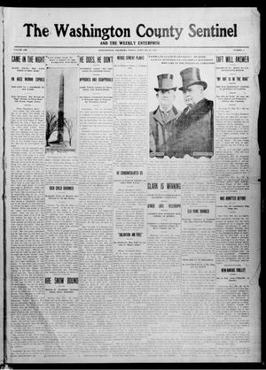 Primary view of object titled 'The Washington County Sentinel And The Weekly Enterprise (Bartlesville, Okla.), Vol. 8, No. 2, Ed. 1 Friday, February 23, 1912'.