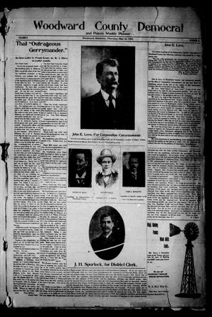 Primary view of object titled 'Woodward County Democrat and Palace Weekly Pioneer. (Woodward, Okla.), Vol. 3, No. 6, Ed. 1 Thursday, May 30, 1907'.