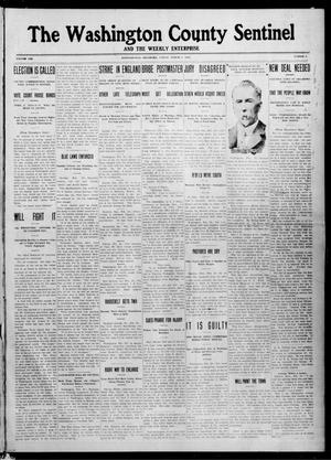 Primary view of object titled 'The Washington County Sentinel And The Weekly Enterprise (Bartlesville, Okla.), Vol. 8, No. 3, Ed. 1 Friday, March 1, 1912'.