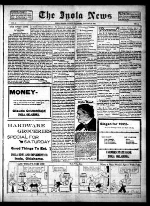 Primary view of The Inola News (Inola, Okla.), Vol. 2, No. 43, Ed. 1 Friday, January 26, 1923