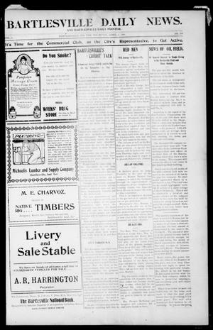 Primary view of object titled 'Bartlesville Daily News. And Bartlesville Daily Pointer. (Bartlesville, Indian Terr.), Vol. 1, No. 104, Ed. 1 Thursday, April 5, 1906'.