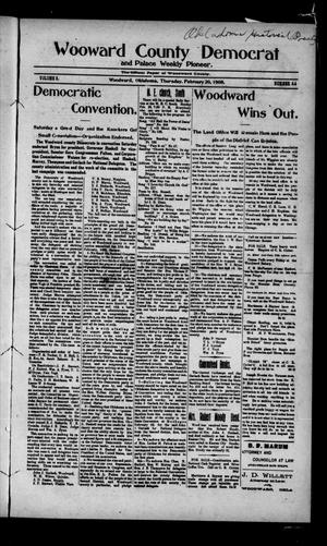 Primary view of object titled 'Woodward County Democrat and Palace Weekly Pioneer. (Woodward, Okla.), Vol. 3, No. 44, Ed. 1 Thursday, February 20, 1908'.