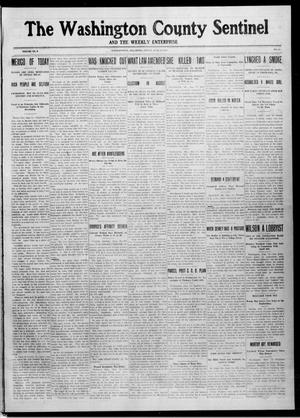 Primary view of object titled 'The Washington County Sentinel And The Weekly Enterprise (Bartlesville, Okla.), Vol. 9, No. 18, Ed. 1 Friday, June 13, 1913'.