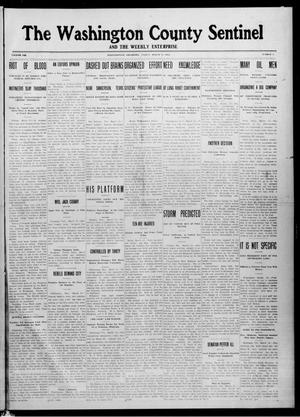 Primary view of object titled 'The Washington County Sentinel And The Weekly Enterprise (Bartlesville, Okla.), Vol. 8, No. 5, Ed. 1 Friday, March 15, 1912'.