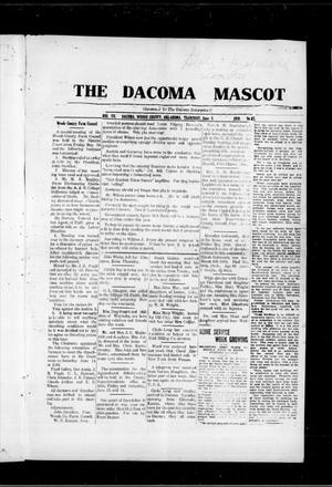 Primary view of object titled 'The Dacoma Mascot (Dacoma, Okla.), Vol. 7, No. 52, Ed. 1 Thursday, June 5, 1919'.