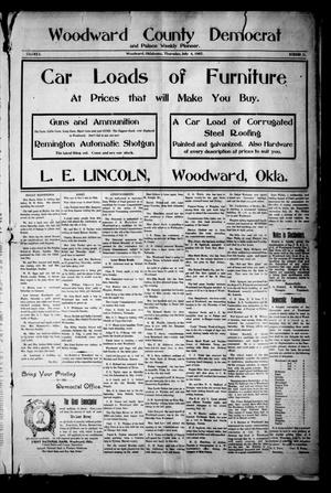 Primary view of object titled 'Woodward County Democrat and Palace Weekly Pioneer. (Woodward, Okla.), Vol. 3, No. 11, Ed. 1 Thursday, July 4, 1907'.