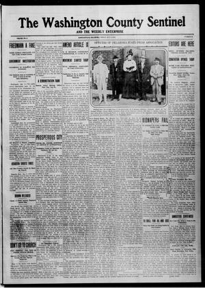 Primary view of object titled 'The Washington County Sentinel And The Weekly Enterprise (Bartlesville, Okla.), Vol. 9, No. 13, Ed. 1 Friday, May 9, 1913'.