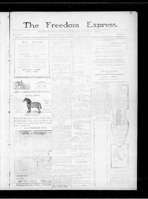 Primary view of object titled 'The Freedom Express. (Freedom, Okla.), Vol. 5, No. 3, Ed. 1 Thursday, April 28, 1910'.