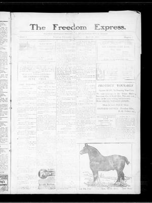 Primary view of object titled 'The Freedom Express. (Freedom, Okla.), Vol. 4, No. 2, Ed. 1 Thursday, April 22, 1909'.