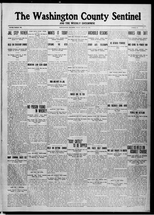 Primary view of object titled 'The Washington County Sentinel And The Weekly Enterprise (Bartlesville, Okla.), Vol. 8, No. 29, Ed. 1 Friday, August 30, 1912'.