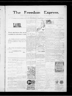 Primary view of object titled 'The Freedom Express. (Freedom, Okla.), Vol. 4, No. 42, Ed. 1 Thursday, January 27, 1910'.