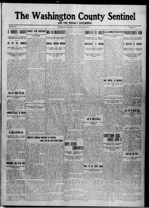 Primary view of object titled 'The Washington County Sentinel And The Weekly Enterprise (Bartlesville, Okla.), Vol. 8, No. 30, Ed. 1 Friday, September 6, 1912'.