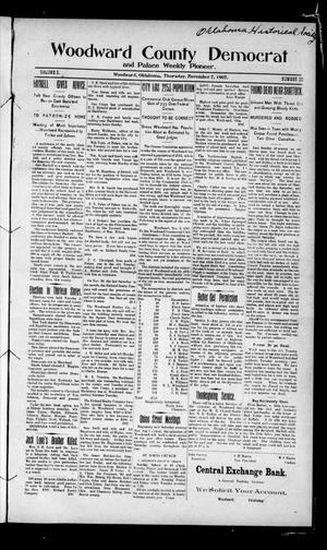 Primary view of object titled 'Woodward County Democrat and Palace Weekly Pioneer. (Woodward, Okla.), Vol. 3, No. 29, Ed. 1 Thursday, November 7, 1907'.