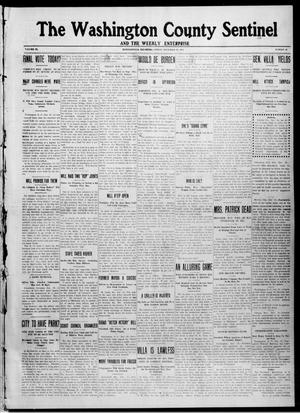 Primary view of object titled 'The Washington County Sentinel And The Weekly Enterprise (Bartlesville, Okla.), Vol. 9, No. 46, Ed. 1 Friday, December 19, 1913'.