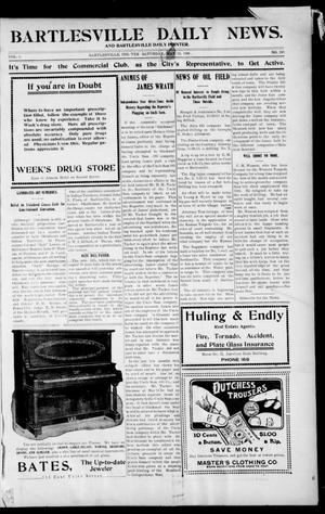 Primary view of object titled 'Bartlesville Daily News. And Bartlesville Daily Pointer. (Bartlesville, Indian Terr.), Vol. 1, No. 249, Ed. 1 Sunday, May 13, 1906'.