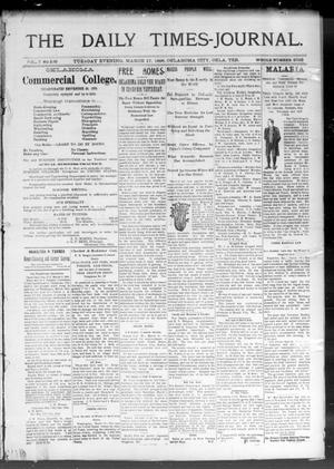 Primary view of object titled 'The Daily Times-Journal. (Oklahoma City, Okla. Terr.), Vol. 7, No. 229, Ed. 1 Tuesday, March 17, 1896'.
