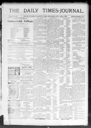 Primary view of object titled 'The Daily Times-Journal. (Oklahoma City, Okla. Terr.), Vol. 7, No. 238, Ed. 1 Friday, March 27, 1896'.