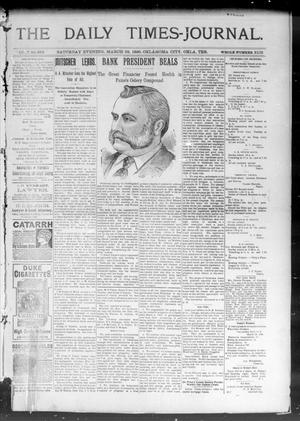 Primary view of object titled 'The Daily Times-Journal. (Oklahoma City, Okla. Terr.), Vol. 7, No. 239, Ed. 1 Saturday, March 28, 1896'.