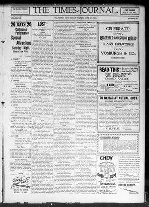 Primary view of object titled 'The Daily Times-Journal. (Oklahoma City, Okla. Terr.), Vol. 12, No. 45, Ed. 1 Friday, June 29, 1900'.