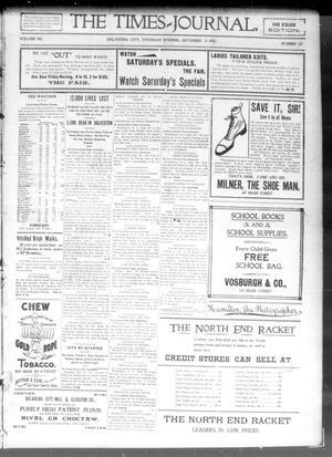 Primary view of The Daily Times-Journal. (Oklahoma City, Okla. Terr.), Vol. 12, No. 115, Ed. 1 Thursday, September 20, 1900
