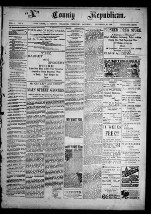 "Primary view of ""L"" County Republican. (Pond Creek, Okla. Terr.), Vol. 1, No. 6, Ed. 1 Saturday, November 25, 1893"