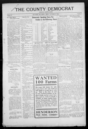 Primary view of object titled 'The County Democrat (Tecumseh, Okla.), Vol. 29, No. 7, Ed. 1 Friday, October 11, 1912'.