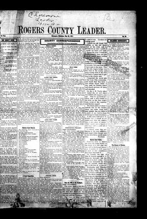 Primary view of object titled 'Rogers County Leader. (Claremore, Okla.), Vol. 1, No. 64, Ed. 1 Friday, May 26, 1911'.