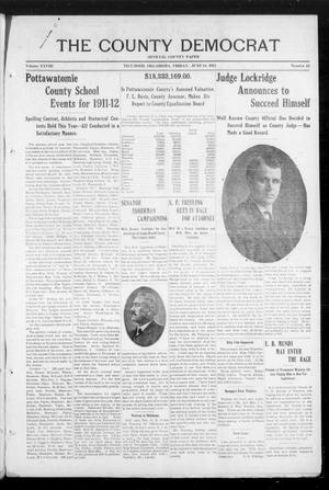 Primary view of object titled 'The County Democrat (Tecumseh, Okla.), Vol. 28, No. 42, Ed. 1 Friday, June 14, 1912'.