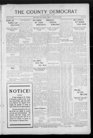 Primary view of object titled 'The County Democrat (Tecumseh, Okla.), Vol. 28, No. 52, Ed. 1 Friday, August 23, 1912'.
