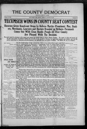 Primary view of object titled 'The County Democrat (Tecumseh, Okla.), Vol. 27, No. 52, Ed. 1 Friday, August 25, 1911'.