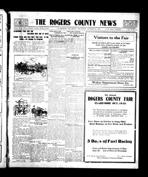 Primary view of object titled 'The Rogers County News (Claremore, Okla.), Vol. 2, No. 31, Ed. 1 Thursday, October 20, 1910'.