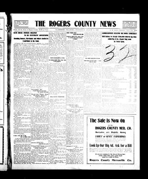 Primary view of object titled 'The Rogers County News (Claremore, Okla.), Vol. 1, No. 21, Ed. 1 Wednesday, August 11, 1909'.