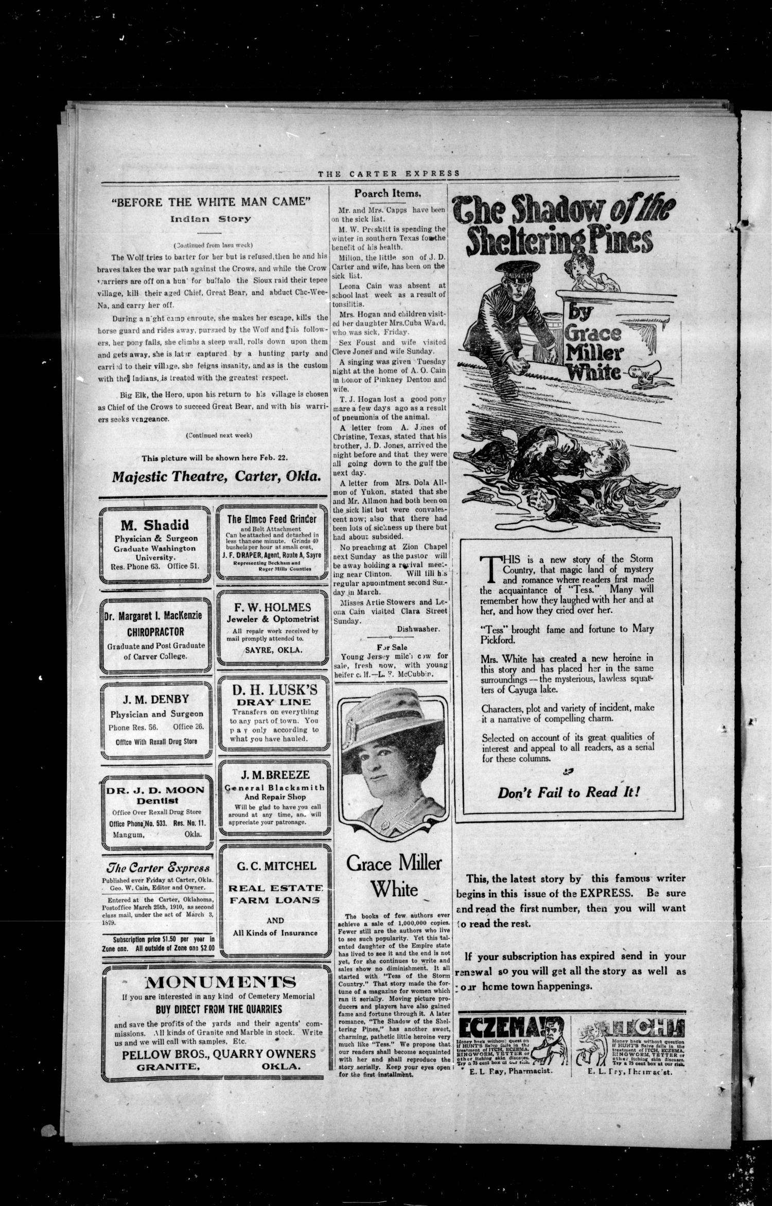 The Carter Express. (Carter, Okla.), Vol. 11, No. 47, Ed. 1 Friday, February 11, 1921                                                                                                      [Sequence #]: 4 of 8