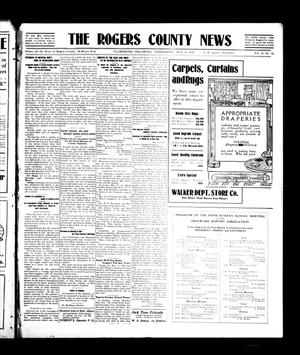 Primary view of object titled 'The Rogers County News (Claremore, Okla.), Vol. 2, No. 10, Ed. 1 Wednesday, May 25, 1910'.