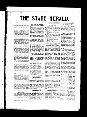 Primary view of object titled 'The State Herald. (Claremore, Indian Terr.), Vol. 1, No. 5, Ed. 1 Wednesday, March 8, 1905'.
